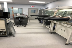 Giner Lab Goes Freestyle With Lab Flooring Installation