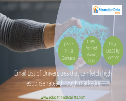 The Universities Email List is the USA's Latest Education Database from Education Data Lists