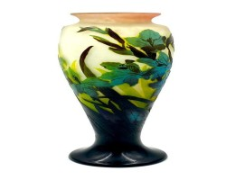Galle Cameo Glass Vases Take Top Lot Honors in Neue Auctions' Online Art & Antiques Auction Sept. 25
